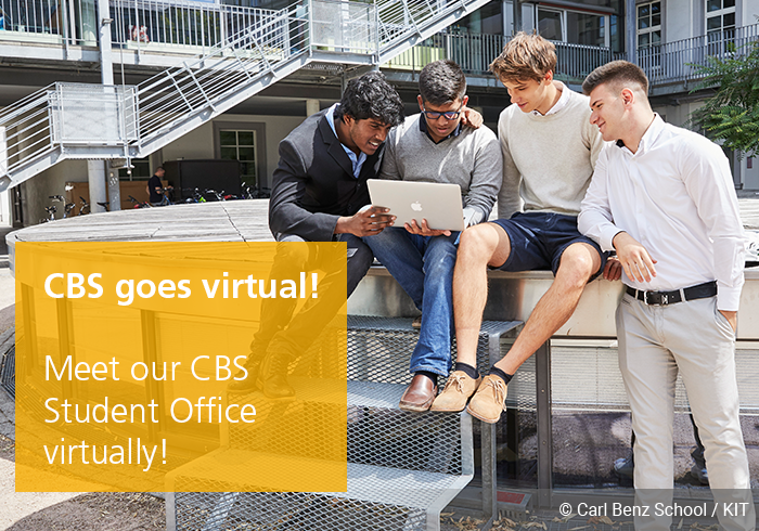 virtual student office, CBS goes virtual, Carl Benz School